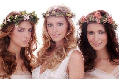 Tendências em penteados de noiva para 2015: despenteado-chic, tranças e cabelos soltos!
