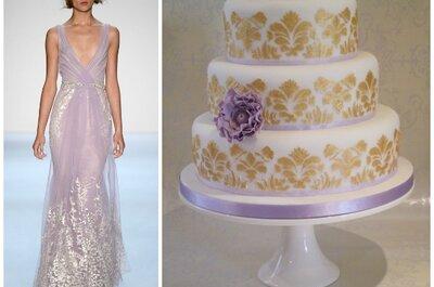20 abiti da sposa 2014, abbinati ad altrettante torte nuziali: delizia per gli occhi e per il palato!