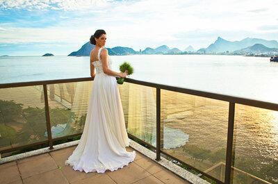 Vestidos de noiva ideais para o calor, sol e verão