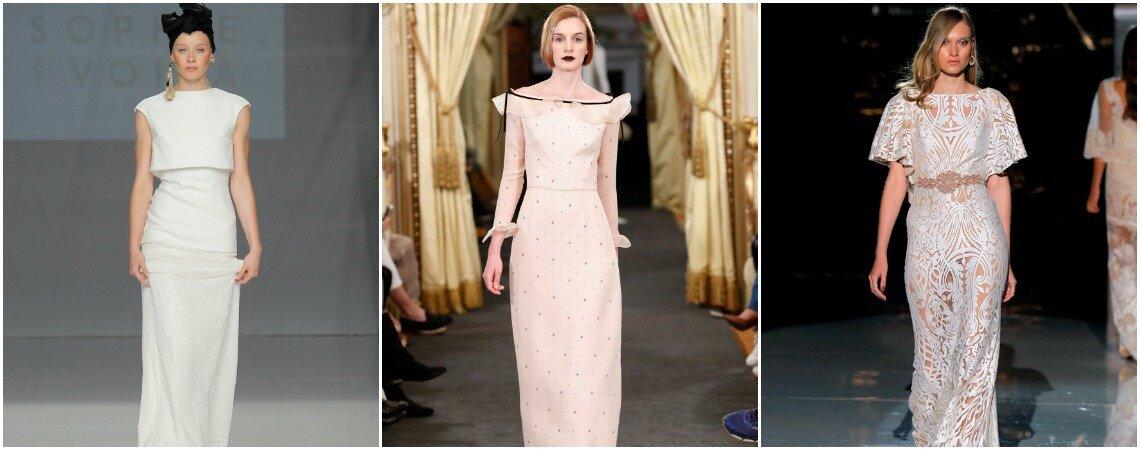 Suknie ślubne o prostym kroju! Piękne modele!