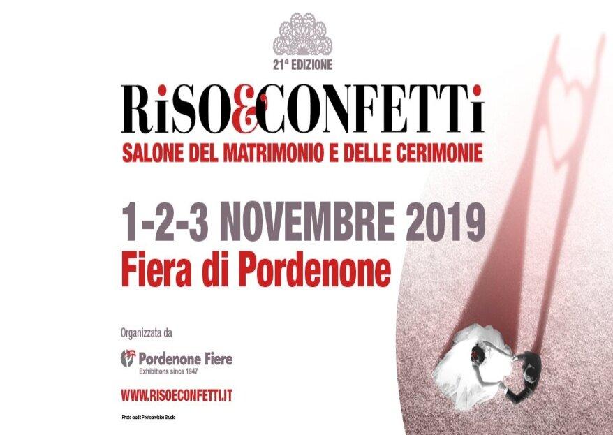 Riso&Confetti 2019: la fiera di Pordenone dedicata agli sposi vi aspetta dall'1 al 3 novembre