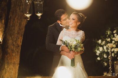Shantalla e Renzo: casamento clássico LINDO ao ar livre com toques da cultura árabe e italiana!