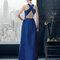 Платье 8T2A2 Rosa Clará Fiesta 2015 Голубое длинное платье для приглашенных на свадьбу