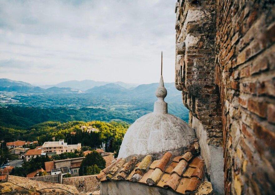 Un matrimonio a mille metri di altezza tra le meraviglie del Castello Baronale di Collalto Sabino