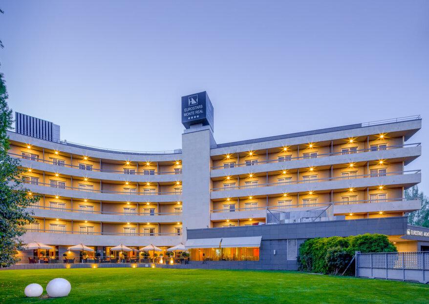 Hotel Eurostars Monte Real: relax y servicios de primera para tu boda en pleno Madrid