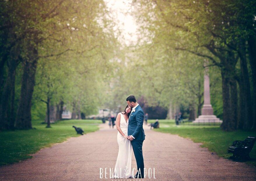 Carly and Dan's Romantic Elopement in London