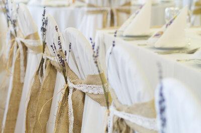 Decoração de cadeiras para casamentos