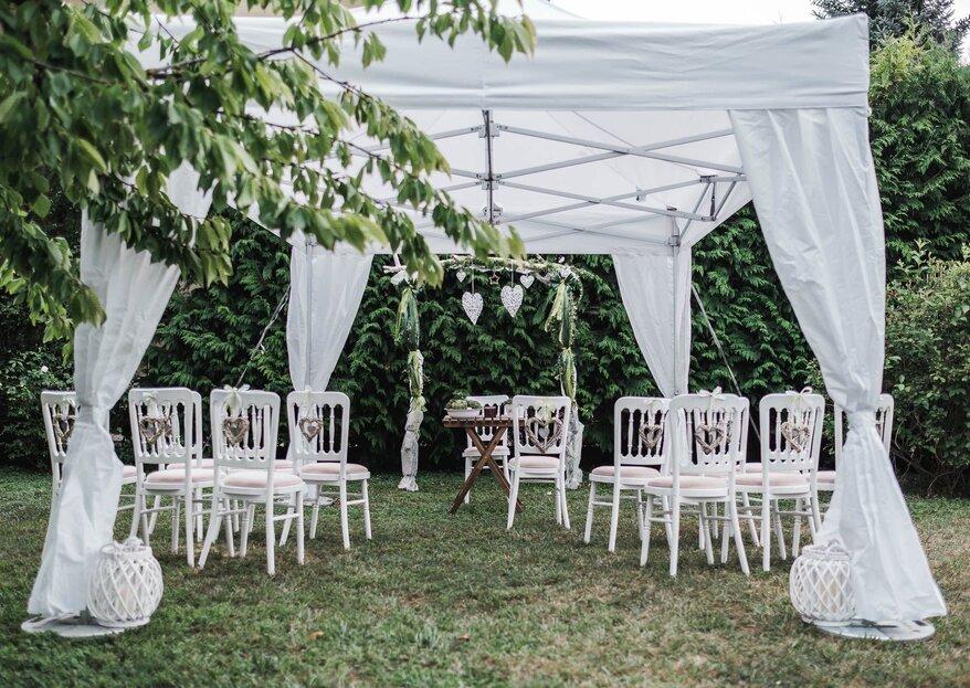 Hochzeit zu Hause feiern: So heiraten Sie im heimischen Garten