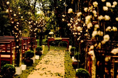 A beautiful outdoor wedding in São Paulo: Maison Saint Germain