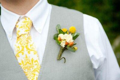 Bunte Krawatten – die Trends für den Bräutigam