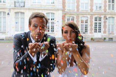 Laura + Benjamin : un mariage dans le Nord sur les tons corail, argent et blanc organisé à 18 000km de distance