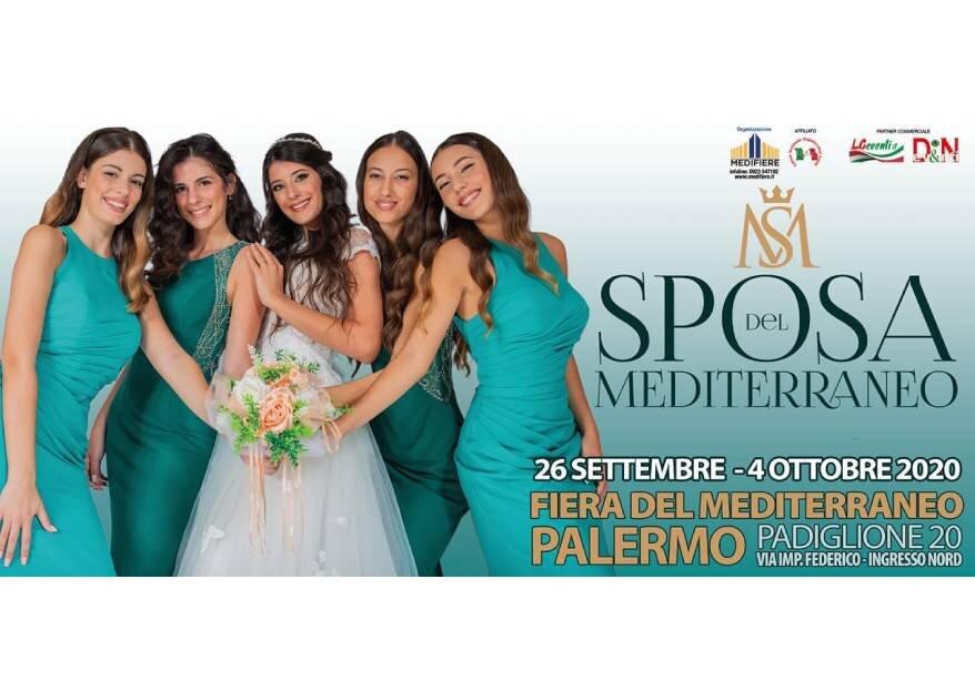 """Torna """"Sposa del Mediterraneo"""", la fiera degli sposi dal 26 settembre al 4 ottobre 2020, padiglione 20 della Fiera del Mediterraneo."""