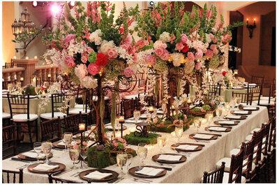 O casamento, os centros de mesa, a perfeição!
