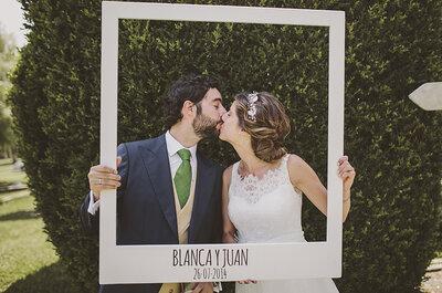 6 ideas divertidas para diseñar el photocall de tu boda