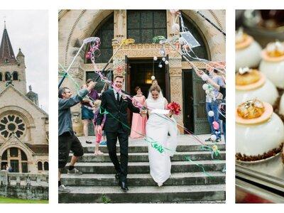 Stilvoll und elegant – So heirateten Samantha und Lucas in der Basler Pauluskirche