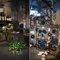 Bottiglie di vetro e fili di ferro per questi allestimenti industrial fotografati da Elisabetta Marzetti Photography