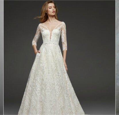 4f359e244b12 Geniale Brautkleider in A-Linie – Bringen Ihre Taille perfekt zur ...