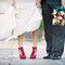 Sapatos vermelhos e estilosos. Foto: Super wedding shoes