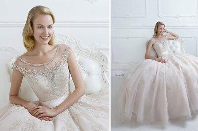 Lust auf glitzernde Momente? Brautkleider mit Strass sind 2015 im Trend!