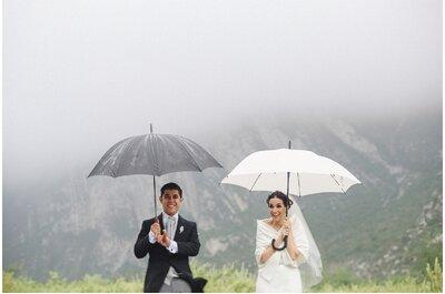 ¡Sobrevive a una boda con lluvia! Cómo lograr que el día B sea perfecto