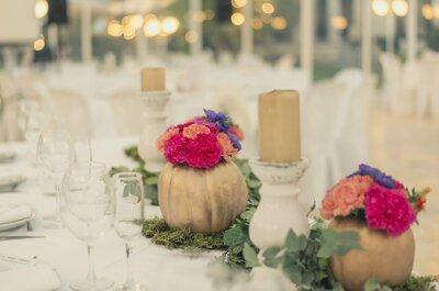Banquetería perfecta: las mejores ideas para decorar las mesas de catering de tu matrimonio