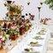 Catering con copas para invitados