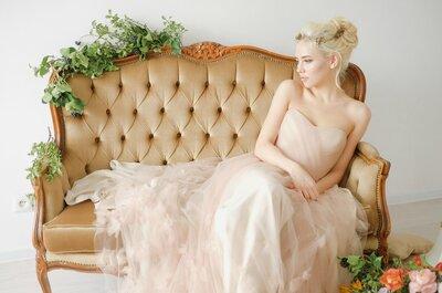 Нежный и утонченный образ невесты с оттенками пудры и отголосками старины