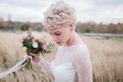 ¿Cabello corto en tu matrimonio? Conoce los estilos y accesorios que más te favorecen