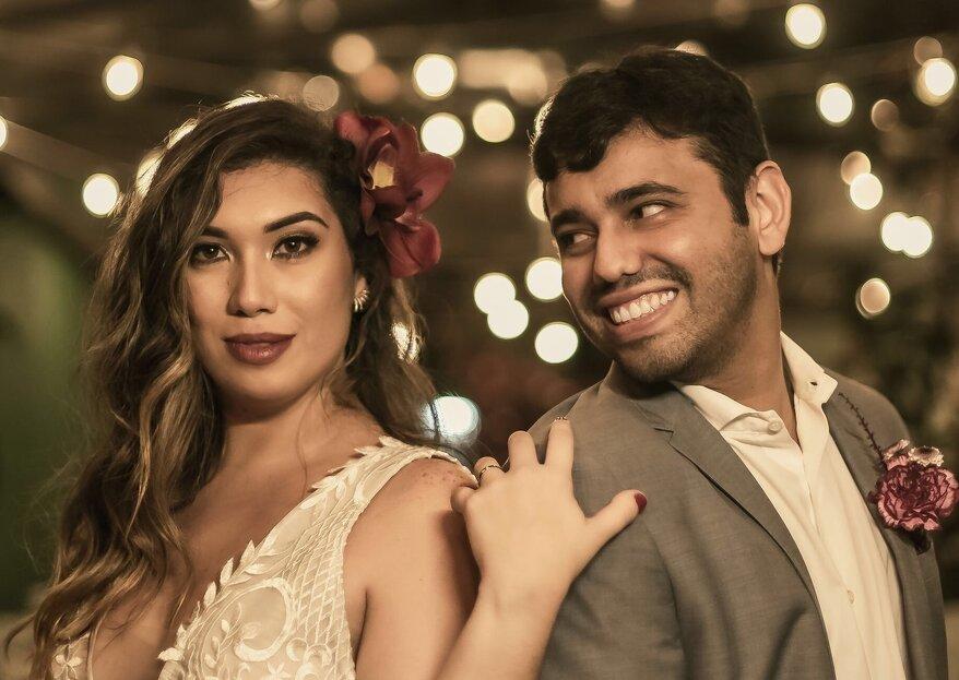 Mariana & Diego: casamento boho-moderninho com decoração inspiradora e bela cerimônia conduzida por Lucas Lujan