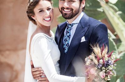 Tras 15 años de noviazgo llegó el gran día: la boda de Jesús y María
