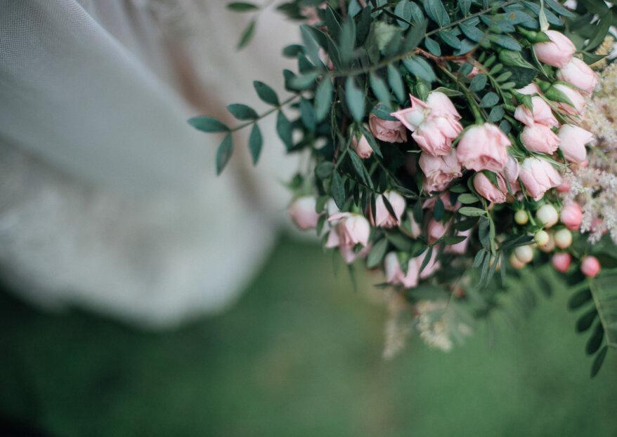 Hoop bouquets para novias: la nueva tendencia circular en ramos para este 2019