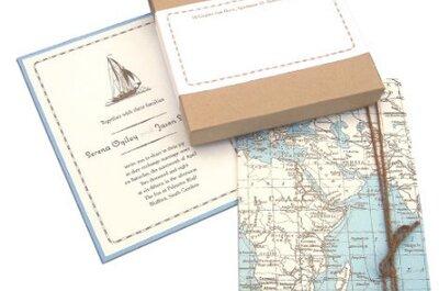 Un'idea originale: partecipazioni di nozze per sposi viaggiatori