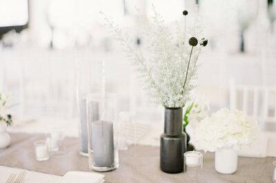 Minimalistische Hochzeitsdekoration: schlicht, aber edel und elegant!