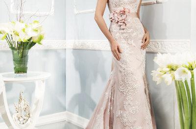 Aposte nos vestidos de noiva com cores suaves e saia do convencional!