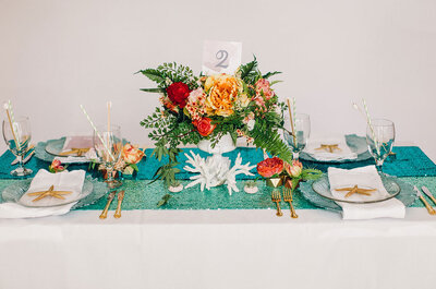 Tus mesas de matrimonio decoradas con las nuevas tendencias de 2015
