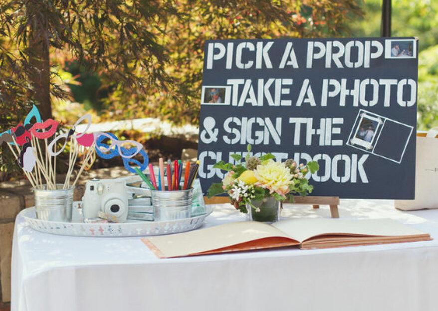 Photo booth di matrimonio, tante idee divertenti