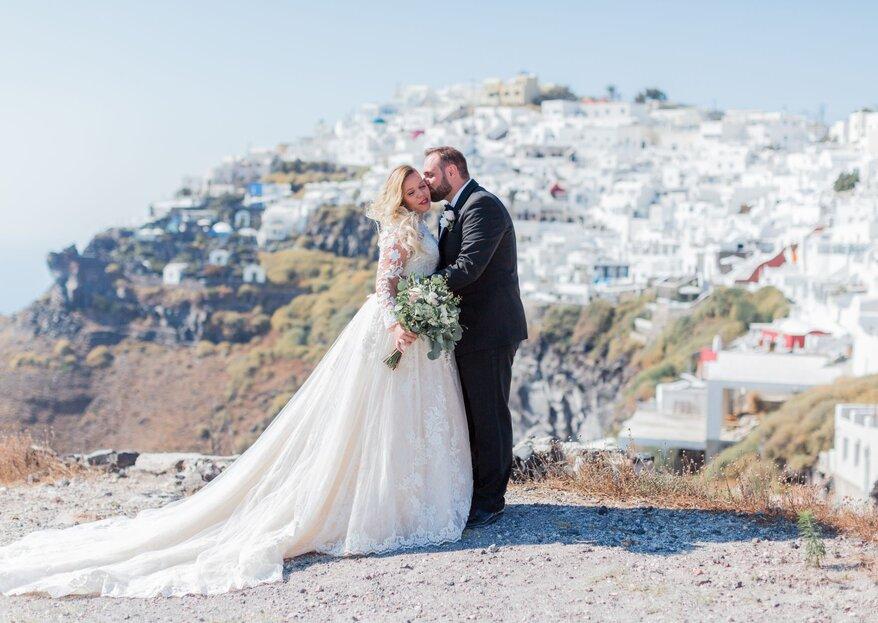 Ein Traum wird wahr – Ihre Hochzeit auf Santorini geplant von Hochzeitsplanerin Sandra Ebner!
