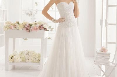 40 suknie ślubne z dekoltem w serce 2016!