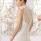 Длинное свадебное платье с американской проймой и стразами