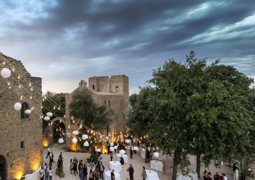 Castello di Rosciano, un luogo da favola per un matrimonio in grande stile tra le colline umbre