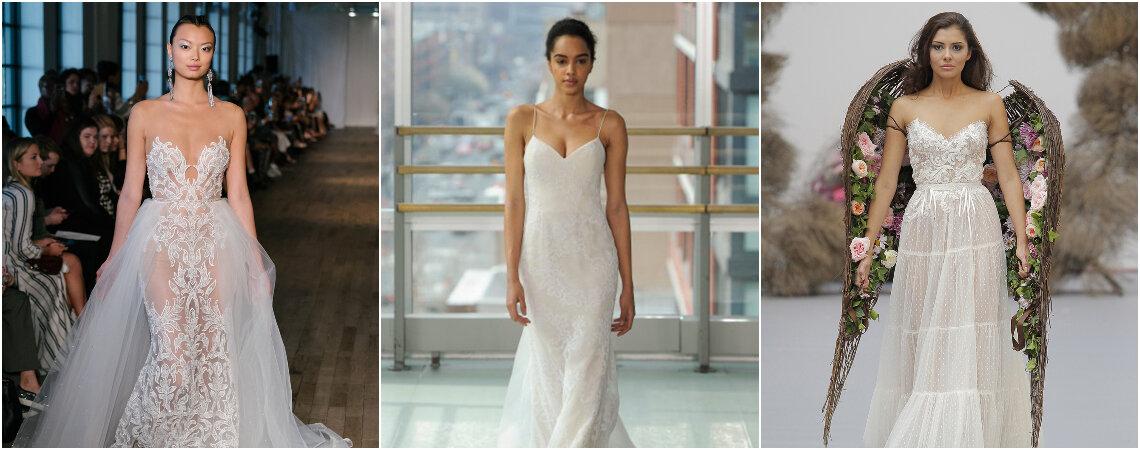 Vestidos de novia con escote corazón con los que te enamorarás a primera vista