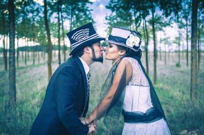 Inspirada en el mundo mágico de Tim Burton: la boda de Laura y Jorge