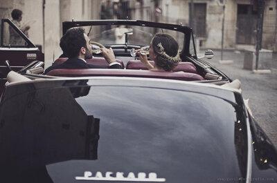 Elige el transporte ideal para tu boda y brilla como una celebrity