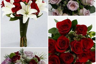 Disfruta de estos románticos ramos de novia