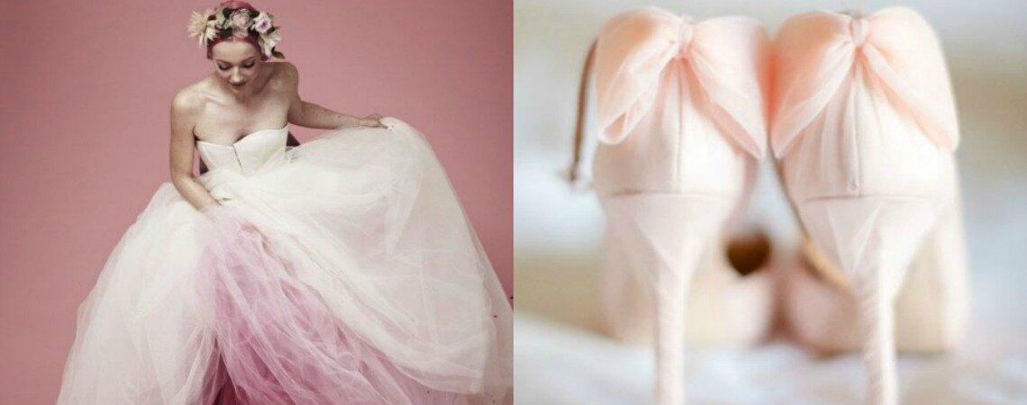 La novia en color rosa: ¡Presta atención a los vestidos más lindos!