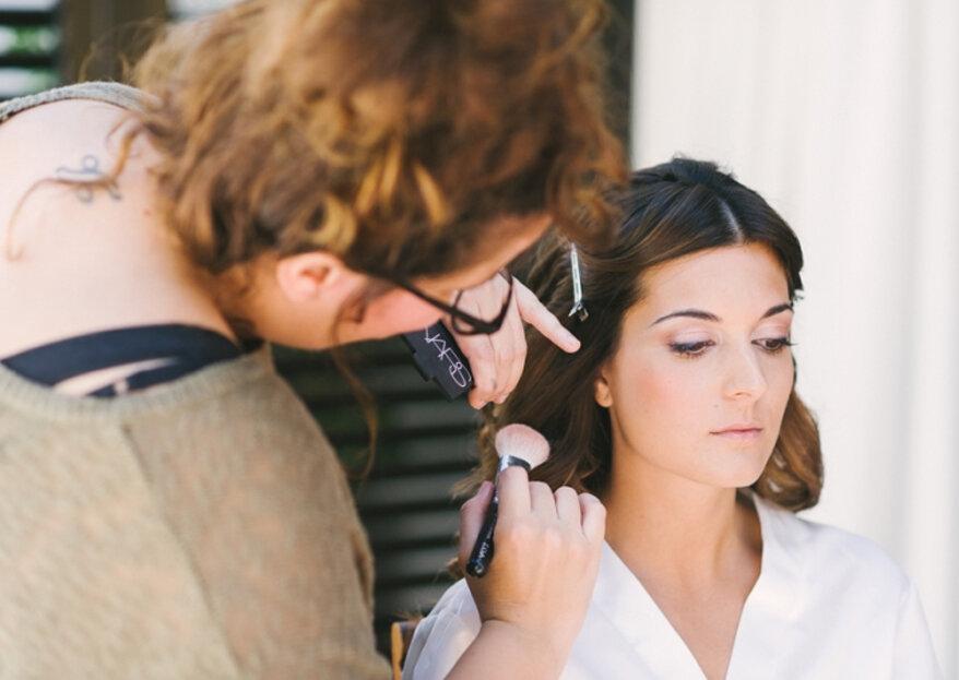 Como escolher o penteado e a maquilhagem para o meu casamento em 5 passos