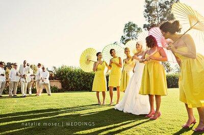 Sombrinhas no casamento: uma graça especial