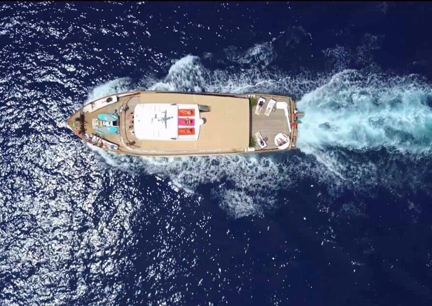 Le yacht Clara One, une pure merveille où célébrer votre mariage ou votre elopment