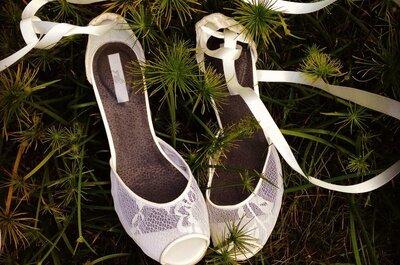 ¡Cuatro razones para no llevar tacones con tu vestido de novia!