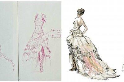 Een trouwjurk laten ontwerpen: hoe wordt het zo mooi als op de tekening?